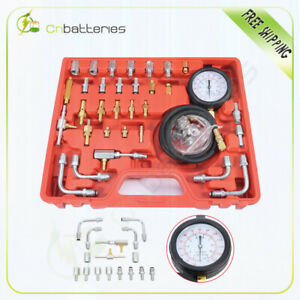 Car Deluxe Manometer Fuel Injection Pressure Tester Gauge Kit System 0 140 Psi