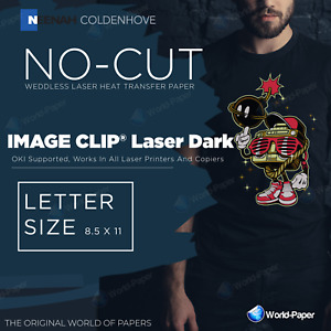 Image Clip Laser Dark Heat Transfer Paper 8 5 X 11 50 Sheets