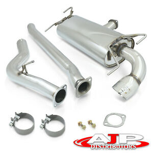 Stainless Steel Catback Exhaust 75mm 4 Muffler Tip For 08 14 Subaru Wrx Hatch