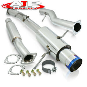 3 S s Jdm Catback Exhaust 4 5 Burnt Tip For 2002 2007 Subaru Impreza Wrx Sti
