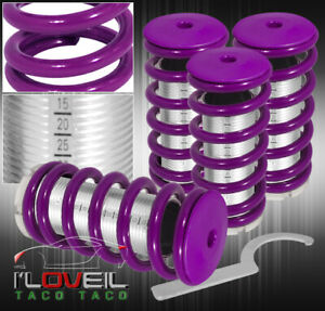 For 96 00 Honda Civic Lx Dx Ex Scaled Coilovers Purple Coil Springs Lowering
