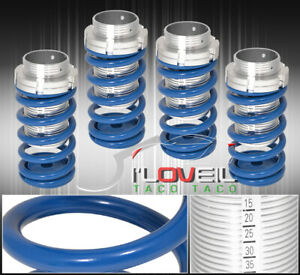 For 93 97 Corolla Adjustable Lowering Spring Coilover Sleeve Jdm Scaled Set Blue