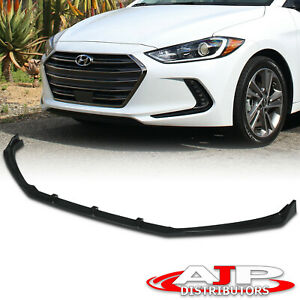 Front Bumper Spoiler Lip Splitter Kit 3pcs Black For 2017 2018 Hyundai Elantra