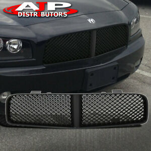 Black Sport Abs Mesh Front Hood Bumper Grille Grill For 2006 2010 Dodge Charger