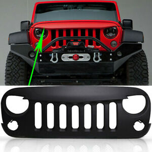 Angry Bird Upgraded Grill Grille For Jeep Wrangler 2007 2017 Jk Unlimited Black
