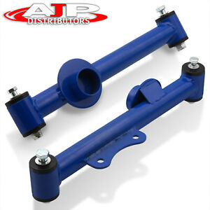 Rear Racing Tubular Lower Control Arms Pair Set Blue For 1979 2004 Ford Mustang
