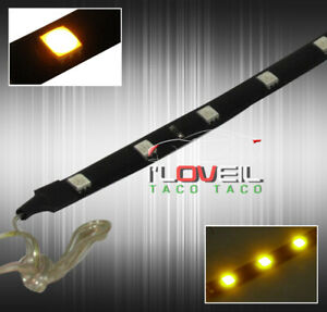 30cm Long 12 Large 5050 Smd Led Lights Lamp Strip Flexible Yellow In Cabin Dress