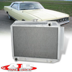 Tri core row Aluminum Engine Cooling For 1966 1970 Chrysler Imperial 300 300c