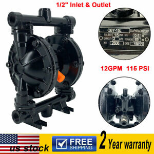 Air operated Double Diaphragm Pump 12gpm 1 2 Inlet Outlet Petroleum Fluids Us