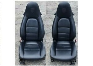 00 05 Porsche 911 Front Rh And Lh Seats Set Leather Electric Aftermarket Used