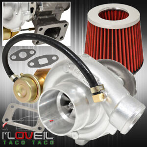 High Performance Upgrade T3 T4 Turbo Charger Turbine Mesh Air Filter Red Chrome