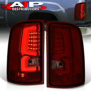 Red Smoked Led Neon Tube Brake Tail Lights Lamps Pair For 2007 2013 Gmc Sierra