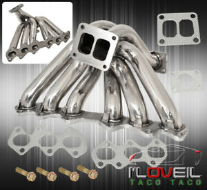Twin Scroll 2jzgte Performance Racing T4 Turbo Manifold For 1993 1998 Supra