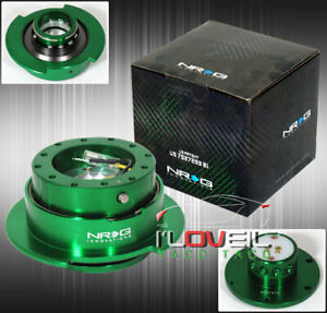 Nrg Srk 250gn 2 5 Steering Wheel Quick Release Adapter Security Ball Lock Green