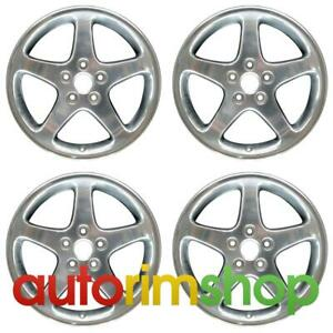 Ford Mustang Cobra Polished 1999 2001 17 Oem Wheels Rims Full Set