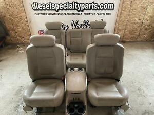 1999 2003 Ford F150 Lariat Crew Cab Tan Leather Seats Console Good Shape