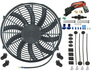 15 Inch Electric Radiator Engine Fan 8an Hose Thermostat Controller Switch Kit