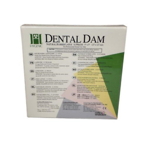 Coltene Whaledent H00529 Hygenic Rubber Dental Dam 5 X 5 Medium Dark 52 bx
