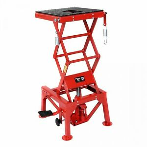 Motorcycle Lift Lifting Table Jack Hydraulic Scissor Repair Tool Stand 300 Lbs