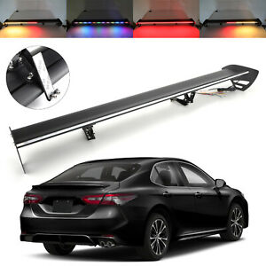 Universal Hatch Aluminum Rear Trunk Wing Racing Spoiler With Turn Signal Led Us