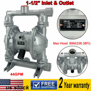Air operated Double Diaphragm Pump 1 1 2 Inlet Outlet Petroleum Fluids 44gpm Us