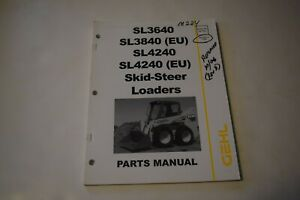 Gehl Sl3640e Sl3840e eu Sl4240e Sl4240 eu Skid steer Loader Parts Manual Rev a