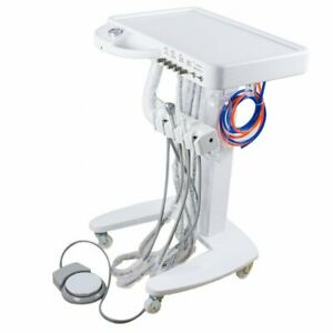 4 hole Dental Delivery Mobile Cart Treatment Unit Equipment No Compressor Device