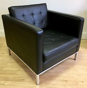 Vintage Black Lounge Chair By Jack Cartwright Mid Century Modern Mcm Knoll