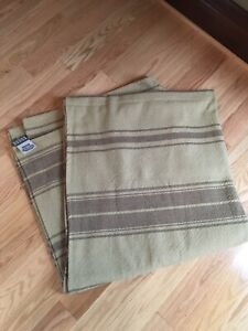 Family Heirloom Weavers Queen Farm Brown Stripe Blanket