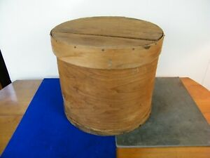 Large 16 Antique Vtg Bentwood Primitive Shaker Pantry Wooden Round Cheese Box