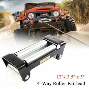 10 Heavy Duty 4way Roller Fairlead Roller Cable Guide Universal For Winch Cable