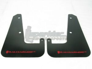 Rally Armor Ur Mud Flaps Black W Red Logo For 2011 2013 Impreza Wrx Sti Sedan
