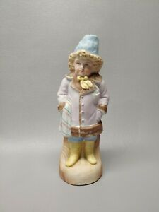 Vintage Germany Bisque Figurine German Porcelain Boy In Coat 8