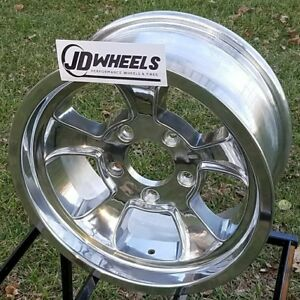Jd Wheels 15x6 Halibrand Replica 612 5x4 75 3 75 Bs Gm Chevy Hot Rod Gasser