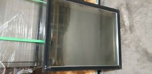 Rear Sliding Door Hussmann Deli Meat Cheese Fish Curved Glass Case black