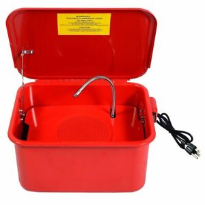 3 5 Gallon Electric Pump Portable Parts Washer Leak Free Solvent Cleaner W Lid