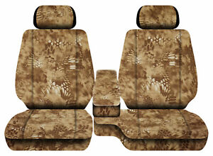 Car Seat Covers Terrain Camo Tan Fits Toyota Tacoma 01 04 Front Bench 60 40 2hr