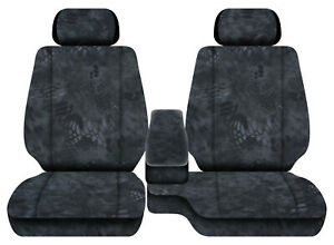 Car Seat Covers Terrain Camo Charcoal Fits Toyota Tacoma01 04 Fr Bench 60 40 2hr