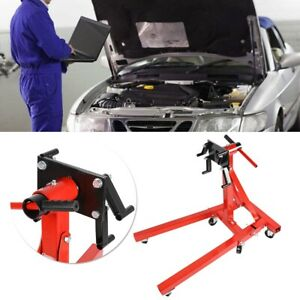 Universal Foldable Heavy Duty Swivel Car Engine Hoist Mounting Stand Bracket Red