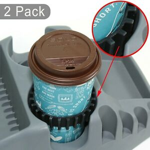 Gadjit Beverage Bands Car Cup Holder Adapter Stop Drinks From Wobbling 2 Pk