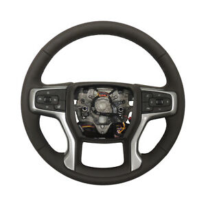 2019 Gmc Sierra 1500 Steering Wheel Assembly Cocoa Brown Heated Leather 84755548