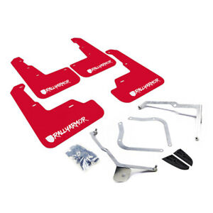 Rally Armor 2015 2020 Subaru Wrx Sti Sedan Red Mud Flap White Logo New Logo