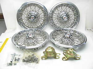 Nos Oem Gm Wire Wheel Hub Cap Covers Kit Complete 80 s Gm Cars