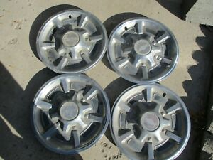 Vintage Set Of 1973 1987 Chevy Truck Hubcaps 15