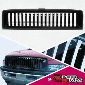 Glossy Black Vertical Style Front Bumper Grille For 1994 2002 Dodge Ram 1500