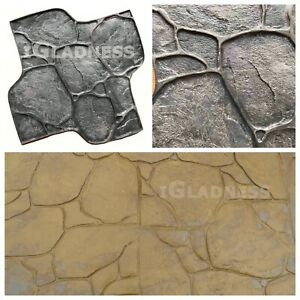 Rubber Texture Stamp Mat Stone For Printing On Concrete Cement pebbles