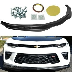 Fits 16 18 Chevy Camaro Ss Ac Style Add On Front Bumper Lip Spoiler Body Kit Pu