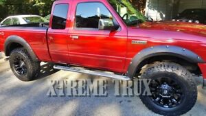 Textured Black 93 11 Ford Ranger Pocket Rivet Fender Flares Bolt On No Drill