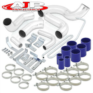 Fmic Intercooler Piping Kit Blue Silicone Couplers For 1993 1997 Mazda Rx 7 Fd