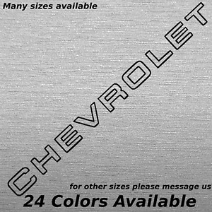 Chevrolet Tailgate Lettering Decal Sticker Factory Chevy